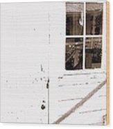Back Porch Reflections Wood Print