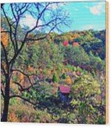 Back Road Barn Wood Print