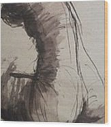 Back Torso - Sketch Of A Female Nude Wood Print