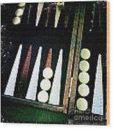 Backgammon Anyone Wood Print