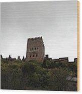 Backlit Castle Wood Print