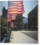 Backlit Flag Wood Print