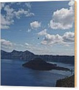 Backside Of Crater Lake Wood Print