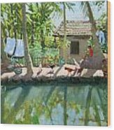 Backwaters India  Wood Print