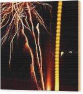 Backyard Fireworks 2012 1 Wood Print