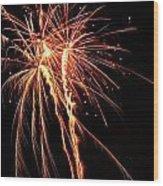Backyard Fireworks 2012 5 Wood Print