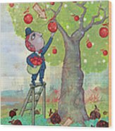Bad Apples Good Apples Wood Print