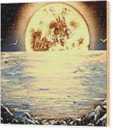 Bad Moon Rising Wood Print