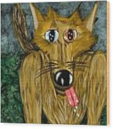 Bad Wolf Wood Print