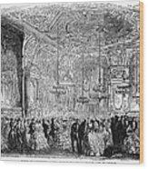Baden-baden: Salon, 1858 Wood Print