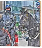 Badges And Horses Wood Print