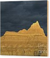 Badlands Early Light Wood Print