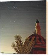 Baghdad Mosque In The Night Wood Print