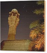 Baghdad Night Sky Wood Print by Rick Frost