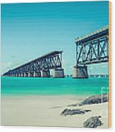 Bahia Hondas Railroad Bridge  Wood Print