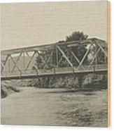 Bailey Bridge Over Willowemoc River Wood Print