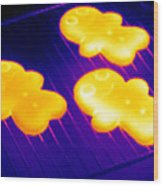 Baked Gingerbread, Thermogram Wood Print