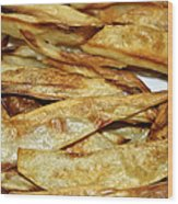 Baked Potato Fries Wood Print
