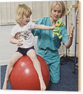 Balance And Stability Physiotherapy Wood Print