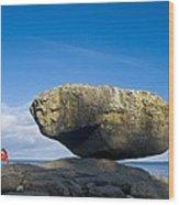 Balance Rock, British Columbia Wood Print