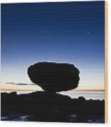 Balancing Rock Sunrise Wood Print