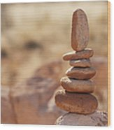 Balancing Rocks Wood Print by Thom Gourley/Flatbread Images, LLC