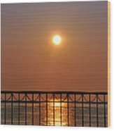 Balcony Sunrise Wood Print