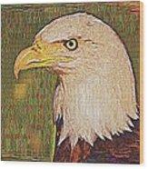 Bald Eagle Embroidered Wood Print