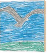 Bald Eagle Flying Wood Print