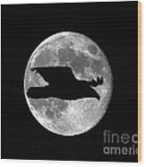 Bald Eagle Moon Wood Print