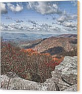 Bald Knob Overlook Near Mountain Lake Wood Print