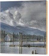 Balfour On Kootenay Lake Wood Print