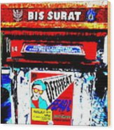 Bali Graffitied Funky Postbox Wood Print
