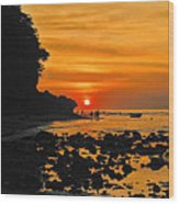 Bali Indonesian Sunset Wood Print
