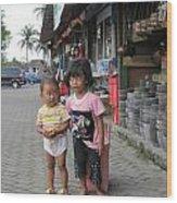 Bali Street Wood Print