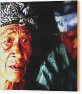 Balinese Old Man Wood Print by Funkpix Photo Hunter