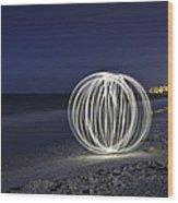 Ball Of Light Marco Island Beach Wood Print