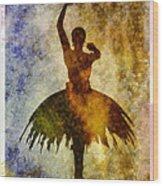 Ballerina 1 With Border Wood Print