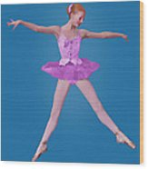 Ballerina In Pink Wood Print