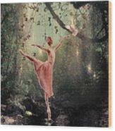 Ballerina Wood Print by Lee-Anne Rafferty-Evans