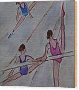 Ballerina Studio Wood Print