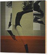 Ballet Dancing Wood Print by Naxart Studio