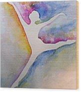 Ballet Leap 1 Wood Print by Carolyn Weir