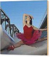 Ballet Splits Wood Print