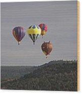 Balloon Cluster Wood Print
