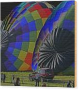 Balloon Dreamscape  4 Wood Print