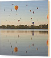Balloon Festival Wood Print by Lightvision, LLC