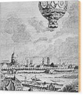 Balloon Flight, 1783 Wood Print