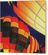 Balloon Glow 1 Wood Print