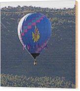 Balloon In Weber Canyon Wood Print